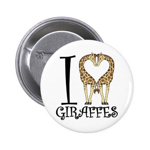 I jirafas del corazón pins
