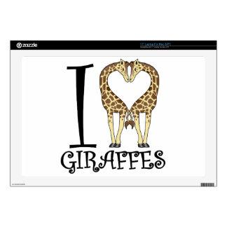 I jirafas del corazón portátil 43,2cm skin
