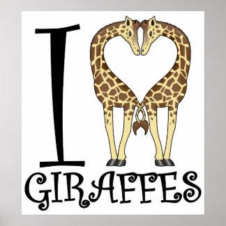 I jirafas del corazón póster