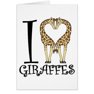 I jirafas del corazón tarjeta de felicitación