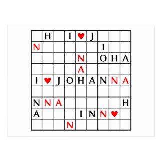 I♥JOHANNA POSTCARD