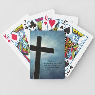 I John 4:15 Bicycle Playing Cards