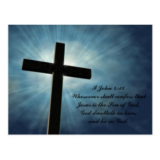 I John 4:15 Postcard