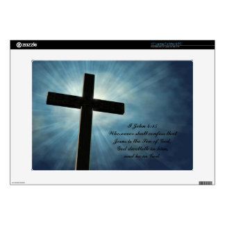 I John 4:15 Skins For Laptops