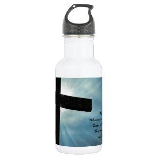 I John 4:15 Stainless Steel Water Bottle