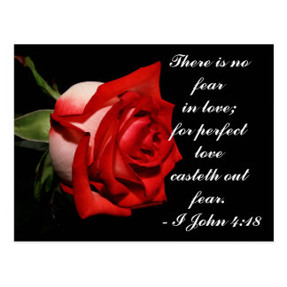 I John 4:18 Postcard