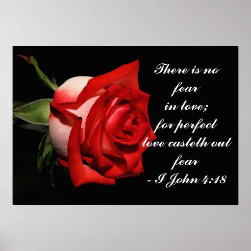 I John 4:18 Poster
