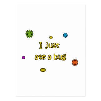 I Just Ate A Bug Postcard