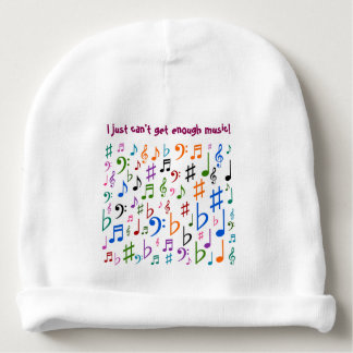 I just can't get enough music! baby beanie