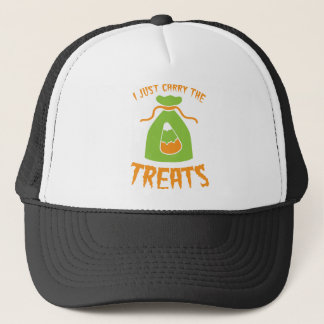 i just carry the treats HALLOWEEN candy corn Trucker Hat