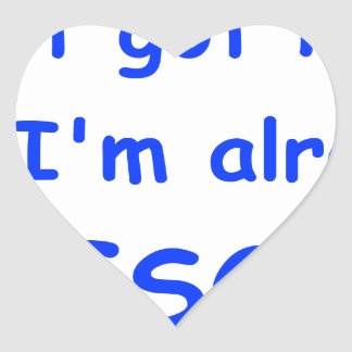 I-just-got-here-and-Im-already-awesome-comic-blue. Heart Sticker
