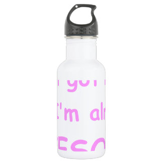 I-just-got-here-and-Im-already-awesome-comic-pink. Water Bottle