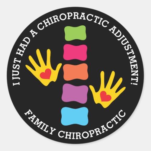 I Just Had A Chiropractic Adjustment Custom Kids Classic Round Sticker