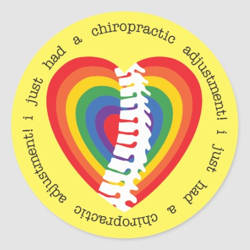 I Just Had a Chiropractic Adjustment Kids Stickers
