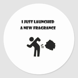 I just launched a new fragrance classic round sticker
