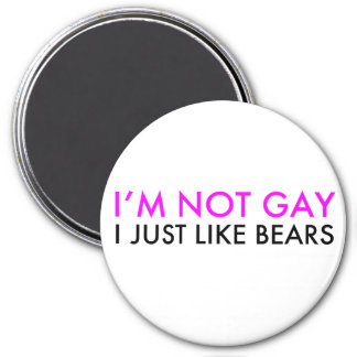 I just like bears 3 inch round magnet