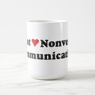 I just love nonverbal communication! coffee mug