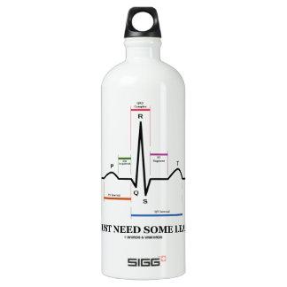 I Just Need Some Leads (ECG/EKG Heartbeat) Aluminum Water Bottle