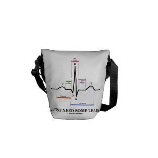 I Just Need Some Leads (ECG/EKG Heartbeat) Messenger Bag