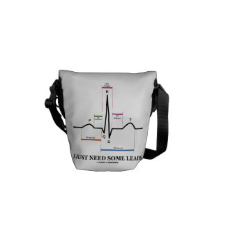 I Just Need Some Leads (ECG/EKG Heartbeat) Messenger Bags