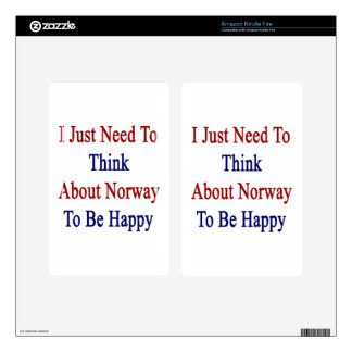 I Just Need To Think About Norway To Be Happy Kindle Fire Skins