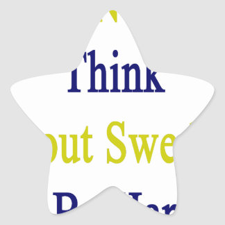 I Just Need To Think About Sweden To Be Happy Star Sticker