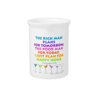 I JUST PLAN FOR HAPPY HOUR Cocktail PITCHER