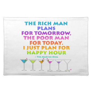 I JUST PLAN FOR HAPPY HOUR PLACEMAT