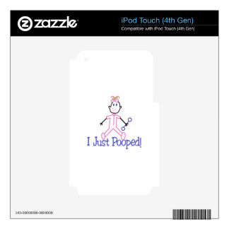 I Just Pooped Decals For iPod Touch 4G