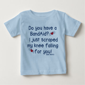 I just scraped my knee falling  for you! baby T-Shirt