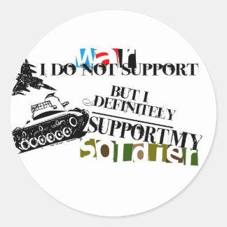 I just support my soldier sticker