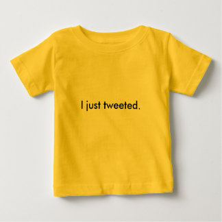 I just tweeted. shirt