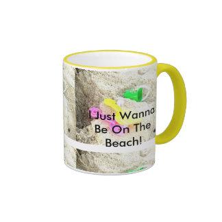 I Just Wanna Be On The Beach Mug