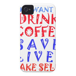 I Just want to drink coffee Case-Mate iPhone 4 Cases