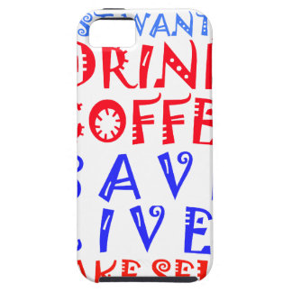 I Just want to drink coffee iPhone SE/5/5s Case