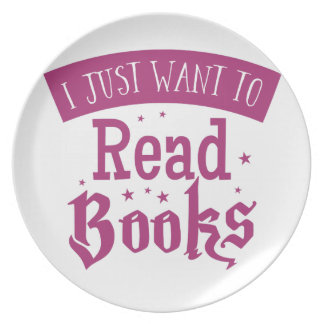 i just want to read books dinner plate