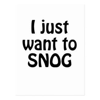 I Just Want to Snog Postcard