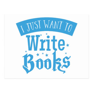 i just want to write books postcard
