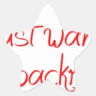 I-just-wanted-back-rub-jel-red.png Pegatina En Forma De Estrella