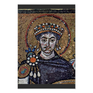 I justiniano, mosaicos A del coro de San Vitale (R Posters