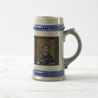 I justiniano mosaicos A del coro de San Vitale R Tazas De Café