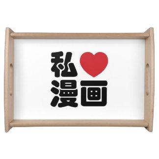 I kanji del japonés de //Nihongo del 漫画 de Manga d Bandeja