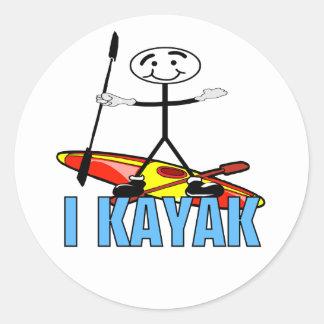 I Kayak Sticker