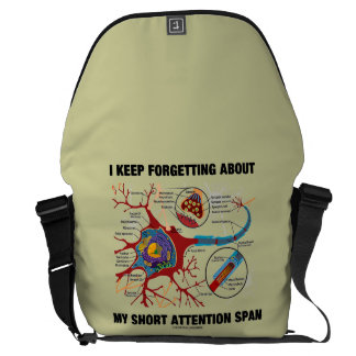 I Keep Forgetting About My Short Attention Span Courier Bag