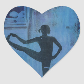I Keep My Balance Yoga Girl Heart Sticker