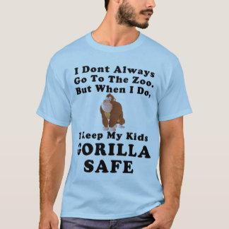 I Keep My Kids Gorilla Safe v1(Various colors) T-Shirt