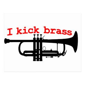 I Kick Brass Postcard
