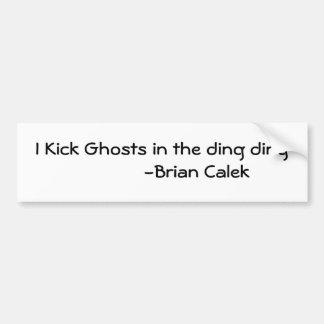 I Kick Ghosts in the ding ding             -Bri... Bumper Sticker