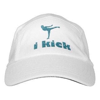 i kick in Turquoise Glitter Sparkles Kickboxing Headsweats Hat