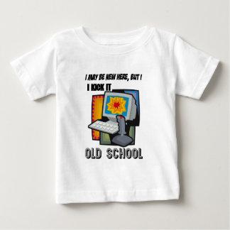 I Kick It Old School Baby Gamer Baby T-Shirt